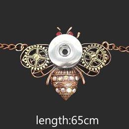 высокое качество bee 072 женщин старинные 12 мм 18 мм оснастки кнопка ожерелье чешские ожерелья подвески DIY ювелирные изделия для женщин мужчины на Распродаже