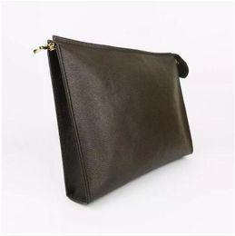 Designer Wallet letter flower Coffee Black lattice mens bags women wallets Cosmetic bag zipper Designer Handbags purses 47542 Come with BOX on Sale
