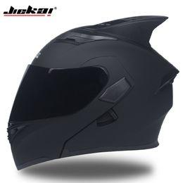 994741fb4aa JIEKAI 902 Motorcycle helmets Double Visors Modular Flip Up helmet DOT  approved Full face casque moto racing Motocross helmet