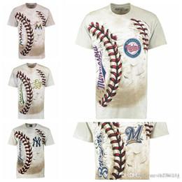 Cream York NZ - Oakland Athletics New York Yankees Minnesota Twins Milwaukee Brewers Miami Marlins Hardball T- Shirt Cream