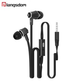 hifi earphones UK - JM21 Earphone Super Bass Stereo HIFI Earbuds With Microphone 3.5mm Noodles Wired In-ear Earphone For Samsung iPhone HTC