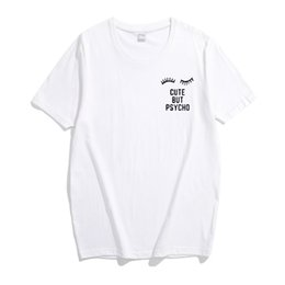 59e6a847372 Cute korean women Clothing online shopping - T Shirt Women New Summer Cute  But Psycho Letter