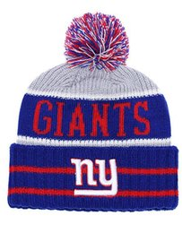 One Piece Fashion Brand Name Knit Hat with Pom Cheap Baseball NY Giants Sport  Skullies Beanie Caps Hip Hop Beanies One size fits most dc7474f14