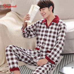 4e2fce5193 Yuzhenli Autumn Pyjamas Men Print Casual Plus Size Cotton Sleepwear Mens  Lounge Wear Loungewear Winter Pajamas Plus XXXL