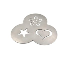 $enCountryForm.capitalKeyWord Australia - 3 In 1 Stainless Steel Coffee Stencil Barista Essential Tools   Love Heart Flower Star Design & Durable Material Kitchen Tools