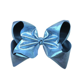 $enCountryForm.capitalKeyWord UK - Radiant Large Jojo Bows Turquoise Glitter Signature Hair Bow Sparkly Dancing Bow Like Jojo Siwa Style Holographic Collection Hair Accessory