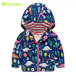 Boys Dinosaur Jacket Australia - Baby Boys Windbreaker For Girls Jacket 2018 Autumn Spring Dinosaurs Jackets For Boys Jacket Kids Outerwear Coat Children Clothes