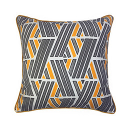 velvet chairs UK - Modern Orange Black Blend Stripes Decorative Throw Pillow Case Digital Print Velvet Floor Sofa Chair Home Bedding Cushion Cover 45x45cm