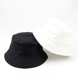23b16eda0d2 Designer Solid Color Plain Cotton Foldable Bucket For Mens Womens Summer  Packable Blank Beach Hats Adults Sports Fishing hat Sun Vsiors