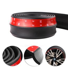 $enCountryForm.capitalKeyWord Australia - 2.5m Car Protector Front Bumper Lip Splitter Car Sticker Body Kit Spoiler Bumpers Valance Chin Car Rubber Strip 60mm Width