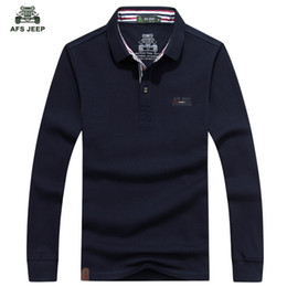 Wholesale polo long sleeved resale online - New Fashion Long Sleeved Polo T Male Youth Men s Cotton Casual Long Sleeve Polo Shirt Color M xl Brand Men