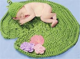 Baby Crochet Prop Sets Australia - Crochet Patttern newborn photography prop baby boy girl unisex Frog design Hat and Blanket set Infant Photo props