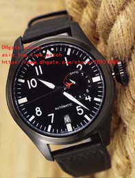 Pilot Watch Dial Canada - 2 color latest version big pilot IW 500435 IW500435 black 44mm dial white digital High quality automatic mechanical men's watch