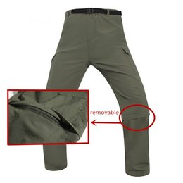 $enCountryForm.capitalKeyWord NZ - Outdoor Riding Camping Mountaineering Sports Quick Dry Anti UV Detachable Pants Men s Summer Removable Thin Breathable Trousers C18111501