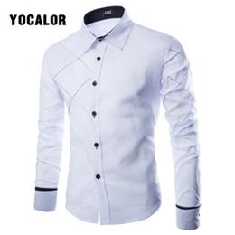 a665bc1fc8 2018 Blusa de Manga Longa Masculina Camisa de Algodão Branco Dos Homens  Casuais Camisa Social Masculina
