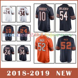 Chicago Bears Football Jersey 52 khalil mack jersey 10 Mitchell Trubisky 54  Brian Urlacher 34 Walter Payton 2018-2019 NEW top quality 15e54230c