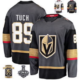 2018 Stanley Cup Final Vegas Golden Knights Alex Tuch Hockey Jerseys  Stitched 89 Alex Tuch Jersey Custom Name Grey Inaugural Patch 17bd89423