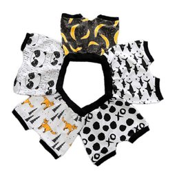 Discount 3t harem pants black - New Baby Printed Shorts Elastic Band Cropped Pants Odell Cotton Boy Harem Cropped Trousers Breathable Summer Shorts 1-3T