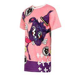 d6a1d750486 Women Crop Top 2018 Summer Short Sleeve Cute Cartoon Rabbit Pattern Print T- shirt for Girls Tshirt Bunny T shirt Woman Loose Tee
