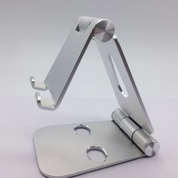 Foldable Desk Stand For Tablets Australia - Universal Cell phone Tablet Aluminum Adjustable Mobile Phone Holder Foldable Stand Stability Desk for iPhone ipad support High Quality