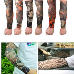 Men's Accessories Punk Tattoo Sleeve Anti-sunshine Cool Fashion Men Women Tattoo High Elastic Halloween Party Dance Party Arm Leg Sleeves #8