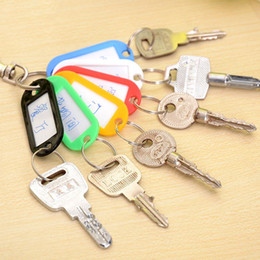 Chinese  New 10PCS Colorful Key ID Labels Name Tags Split Ring Car Door Keyring Keychain manufacturers