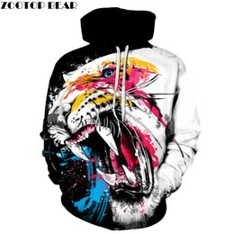 d12f0c4a2f0 Colorful Hoodies Australia - Colorful Tiger Hoodies Men Women 3D  Sweatshirts Autumn Novelty Pullover Fashion Tracksuits