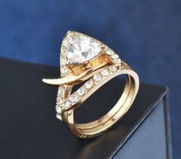 $enCountryForm.capitalKeyWord Australia - New arrival women fashion jewelry 2pcs diamond zircon bride engagement wedding ring set girl festival gift Christmas birthday