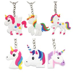 Cellphone Keys Australia - Hot Sale Unicorn Keychain Keyring Cellphone Charms Handbag Pendant Kids Gift Toys Phone Decoration Accessory Horse Key Ring