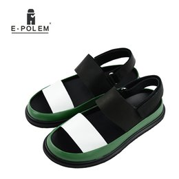 Sale Leather Sandals Canada - Summer Men Genuine Leather Sandals Breathable Mens Fashion Shoes High Quality Male Platform Rome Sandals Hot Sale