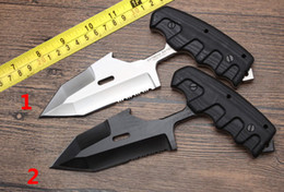 extrema ratio tactical Australia - Cloned version Extrema Ratio S.E.R.E 1 Outdoor survival Tactical knife D2 Tanto Blade G10 Handle Fixed Blade Knives 1pc