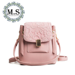 $enCountryForm.capitalKeyWord Australia - M.S Lace Embroidery Elegant Women's BackpacZipper Fashion Patchwork Casual PU Leather Backpack Designer Hot Ladies Bags SJ140