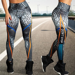 $enCountryForm.capitalKeyWord NZ - Women Yoga Pants Don't Stop Printed Sport Leggings Quick Dry Gym Training Pants Fitness Running Tights Women SportsWear Trousers