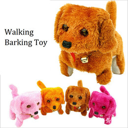 Discount plush walking dog electronic barking - Fashion Walking Barking Toy High Quality Funny Electric Short Floss Dog Toys Electric Dog Moving Dog c514