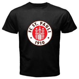 9c84273b77d New St Pauli FC Sankt Pauli Red Logo Men s Black T-Shirt Size S M L XL 2XL  3XL