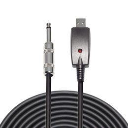$enCountryForm.capitalKeyWord NZ - USB To 6.35mm Electric Guitar Cable Adapter Audio Effects Regulator 3m Guitar Accessories USB Musical Instrument Cable