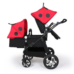 twins lighting Australia - 21 colors light folding baby twin stroller with promotion hot sell price send gifts gold frame black basis