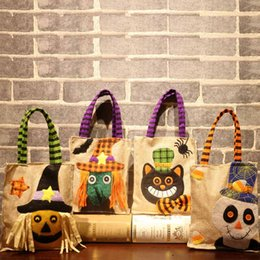 Hand Bags Types Australia - High Quality Hot Sale 4 Types Halloween Pumpkin Witch Cat Candy Hand Gift Party Decorative Kids Bag