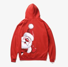 China Men Woman Winter Santa Claus Print Long Sleeve Sweatshirts Hoodies Outwear Boys Clothes Sweatshirt Tops Blouse Felpa Uomo cheap boys outwear long sleeve hoodies suppliers