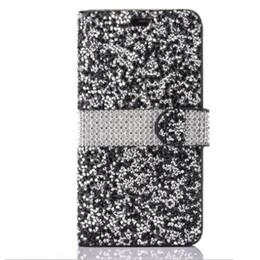 Lg diamond waLLet online shopping - 2018 For iPhone Galaxy ON5 Wallet Diamond Case iPhone Case LG K7 Stylo Bling Bling Case Crystal PU Leather Card Slot Opp Bag