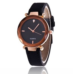 mens watches chronograph UK - Retro students wrist watches Unisex casual mens watches Fashion Leisure men women nubuck leather quartz watch Gift