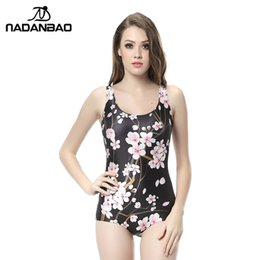 b2e49bef34 Sexy One Piece Swimsuit Beach Wear Black White Sakura Cherry Blossom  Printed Women Swimwear Sleeveless Bathing Suit CYQ1133
