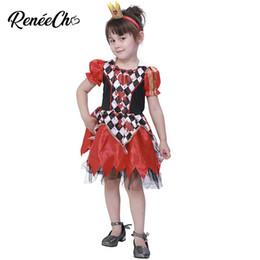 802cdd3133f3 2018 Kid Costume Child Wonderland Queen Costume Halloween For Girls Bloody  Vampire Carnival Cosplay Princess Dress