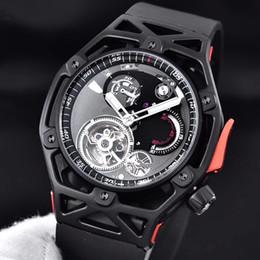 Mechanical Cars Canada - High Quaality Men Luxury Fashion Rubber strap Mechanical Watch waterproof 904 Stainless steel Car Design Wristwatch 43MM