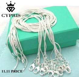 bulk silver necklace snake 2019 - whole salemother's day retail 16 18 20 22 24 inch bulk c008 fashion silver 1MM snake chain accessory jewelry findings st