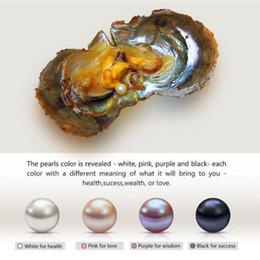 Ingrosso Bianco viola rosa nero Akoya rotondo Ostriche perla d'acqua dolce con perla vera perla 6-7mm perla d'acqua dolce perla