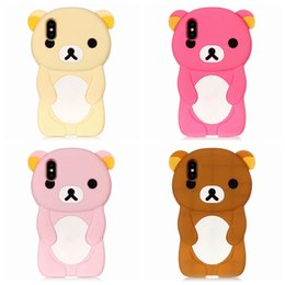 cute bear iphone case 2019 - 3D Bear Rilakkuma Relax Soft Silicone Case For Iphone XR XS MAX X XS 5.8 8 7 6 6S Huawei P20 Lite Cute Lovely Rubber Pho