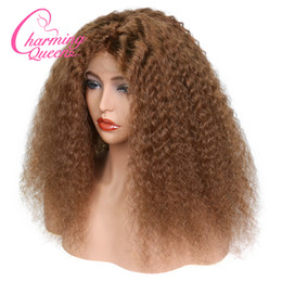 Deep Curly Indian Lace Wig Australia - Curly Brazilian Lace Front Human Hair Wigs For Black Women #4 Pre Plucked Deep Wave Remy Hair Wigs With Baby Hair