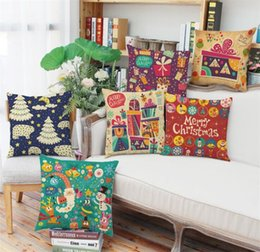 Discount decorated cars - Dazzle decorated Christmas tree pillowcase New Year's Christmas gift Sofa cushion cover car waist pillow case ( not