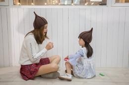 1b23f18879f Fast Ship Kids Cute Nipple Knit Warm hats Children Windmill Caps Women  Twisted Caps Boys Girls Pointed Hats Parent-Child Winter Warm Caps C1